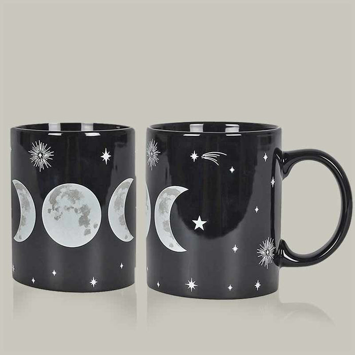Black Magic New Bone China Wiccan Triple Moon Mug - Gift Shop UK