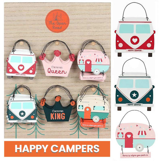 Campervan Caravan Holiday Hanging Sign Gift - Gift Shop UK