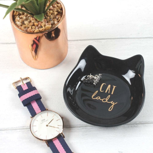Cat Shape Jewellery Dish with Gift Box - The Fashion Gift Shop