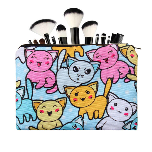 Cartoon Cat Printed Make-Up Case Cosmetic Bags - The Fashion Gift Shop Ltd