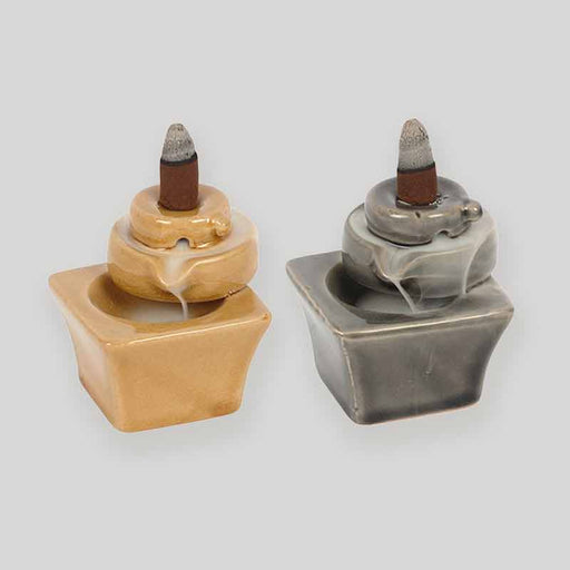 Ceramic Incense Backflow Burner with Crackle Glaze - Gift Shop UK