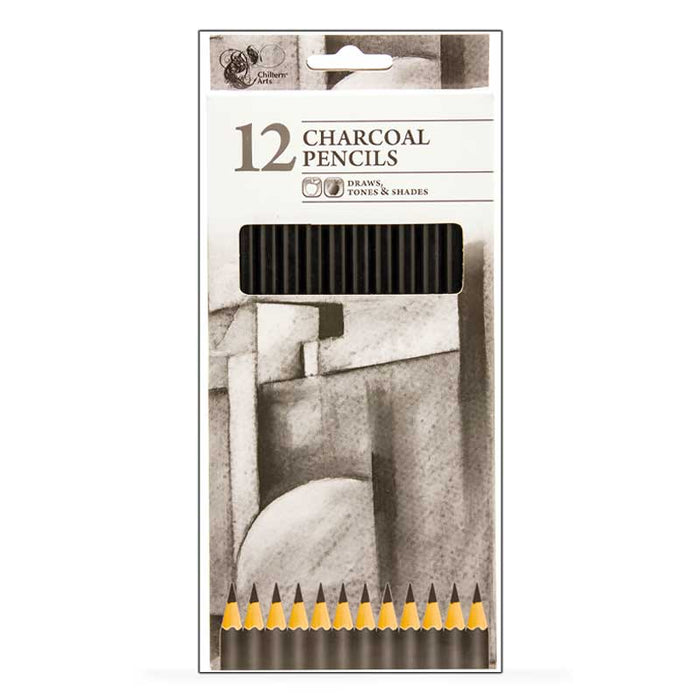 Charcoal Art Drawing Pencils - Pack of 12 - Draw, Tone & Shade - The Fashion Gift Shop
