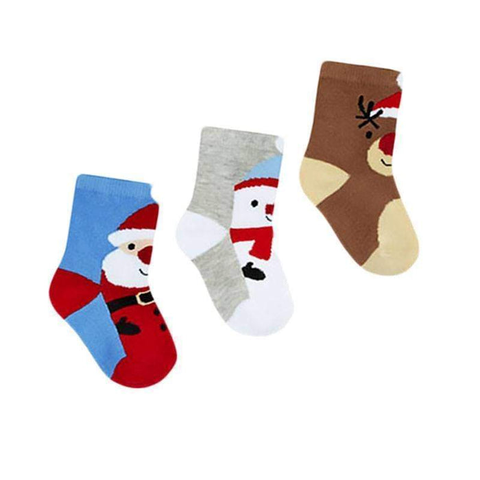 Christmas Baby Socks 3 Pack Festive Gift - Gift Shop UK