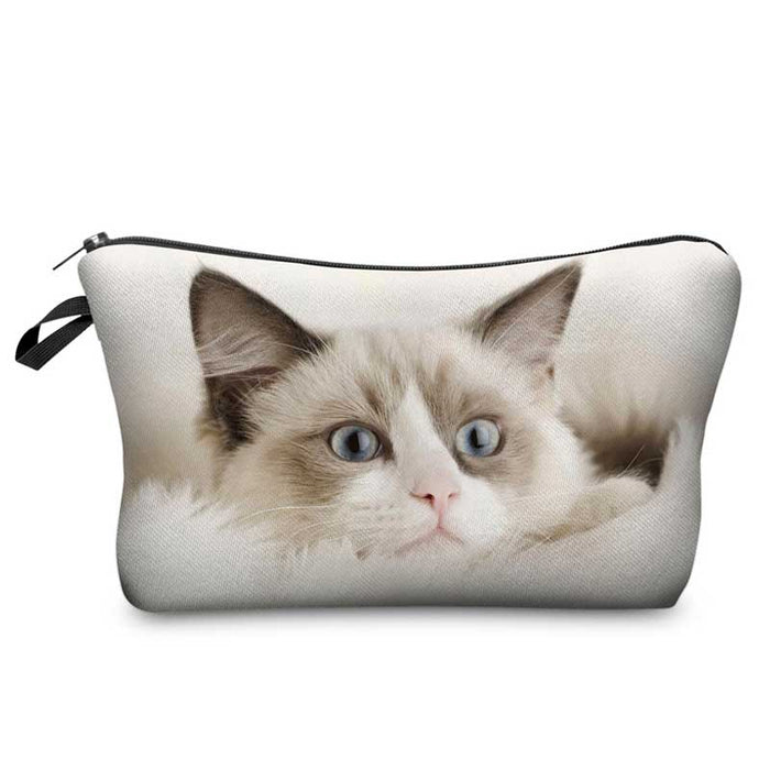 Cute Ragdoll Cat Makeup Cosmetic Bags - School College Pencil Case - The Fashion Gift Shop Ltd