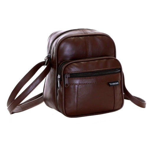 Brown Real Leather Compact Man's Shoulder Full Lined Excellent Quality - The Fashion Gift Shop Ltd