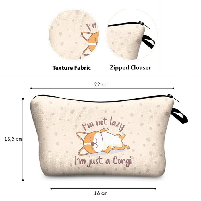 Corgi Dogs Cosmetic Travel Overnight Bags Children's Cute Pencil Cases - Gift Shop UK