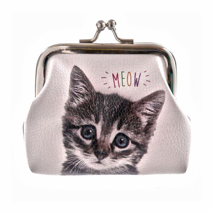 Cute Kitten Cat and Dog Coin Purses - Boys Girls Adult Purses - Gift Shop UK