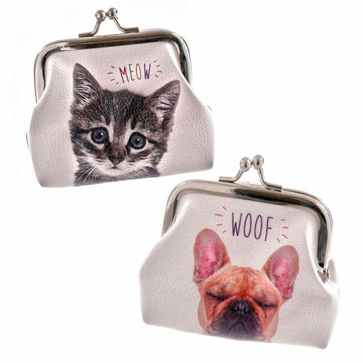 Cute Kitten Cat and Dog Coin Purses - Boys Girls Adult Purses - The Fashion Gift Shop Ltd