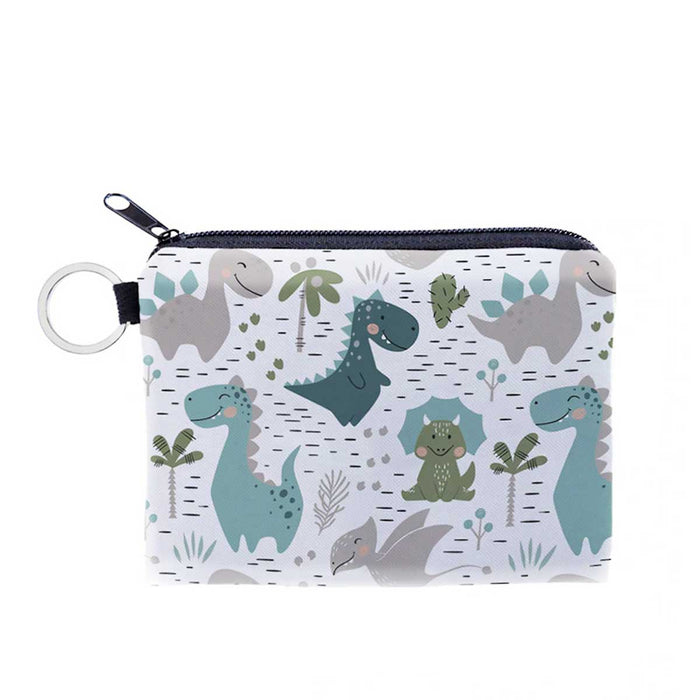 Cute Boys Girls Dinosaur Zipped Purses Coin Wallets - Gift Shop UK