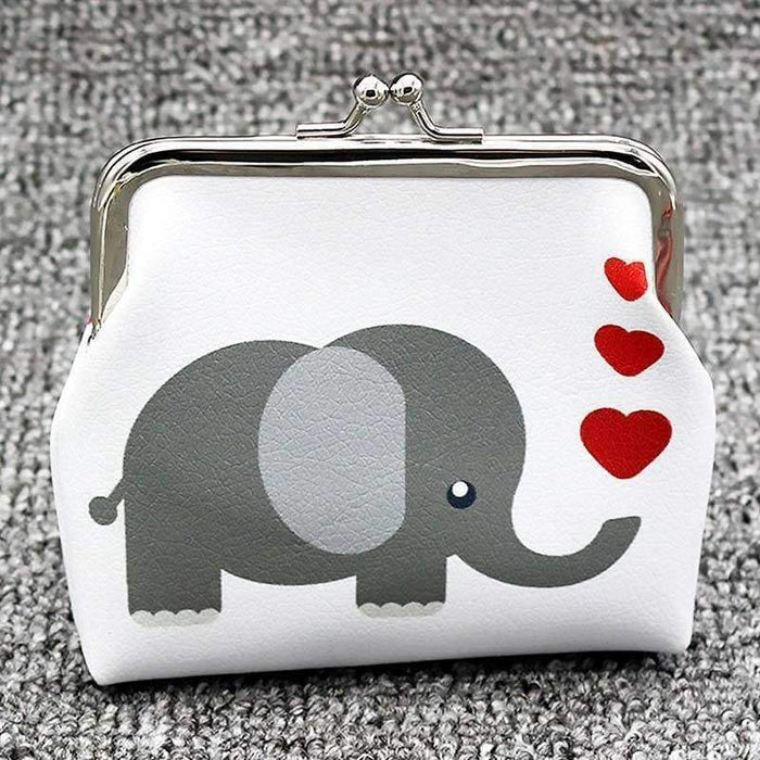 Cute Large Faux Leather Elephant + Owl Coin Purses Card Holder - The Fashion Gift Shop Ltd