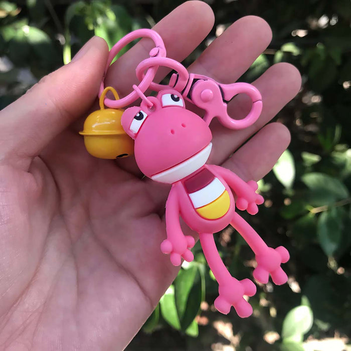 Cute Pink Frog Large Keyring Charm Backpack Charm Child Gifts - The Fashion Gift Shop
