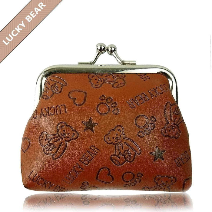 Cute Soft Leather Luck Bears Boys Girls Coin Purses Perfect Gift Small Wallet - The Fashion Gift Shop Ltd
