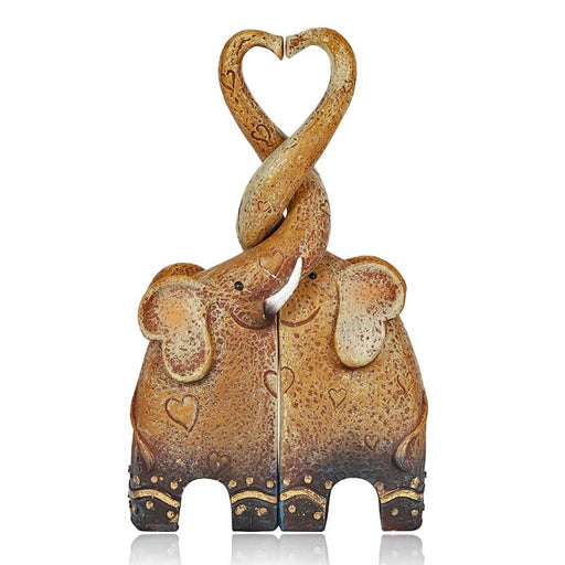 Elephant Love Heart Shape Pair of Ornaments - Gift Shop UK