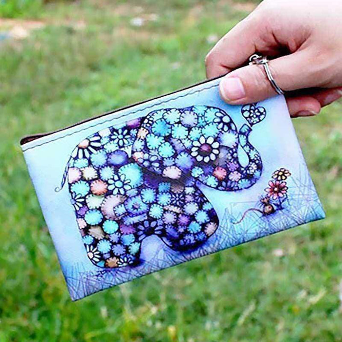 Elephant Purse Zipped Small Pouch Money Bag Wallet Gift - Gift Shop UK