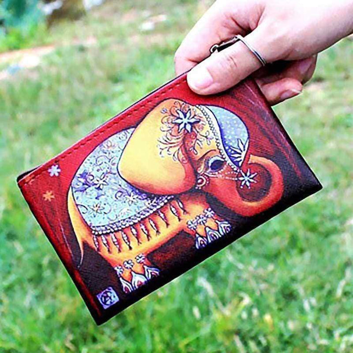 Elephant Purse Zipped Small Pouch Money Bag Wallet Gift - The Fashion Gift Shop Ltd
