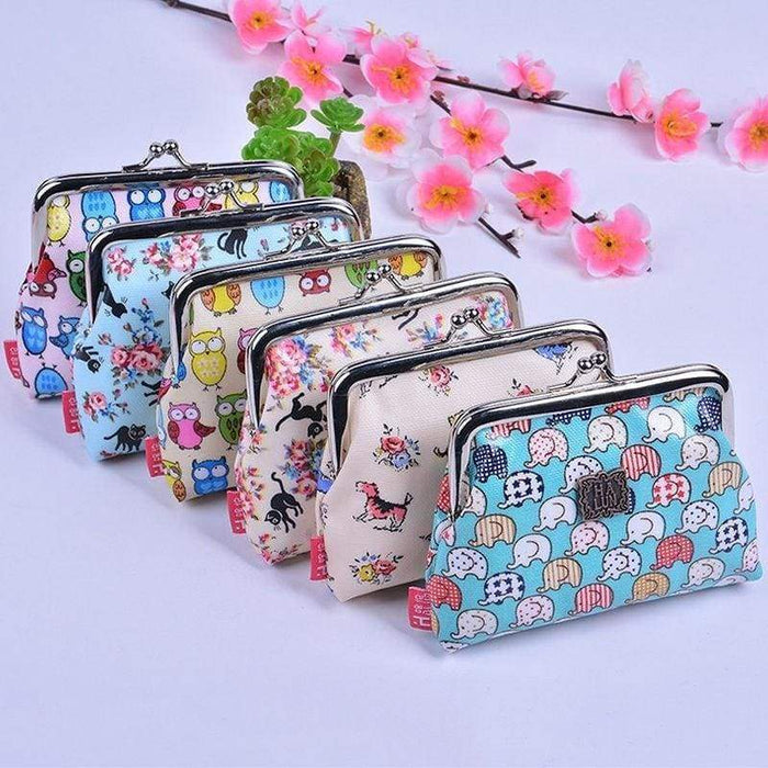 Elephants, Owls, Cats, Dogs Womens Girls Large Coin Purses