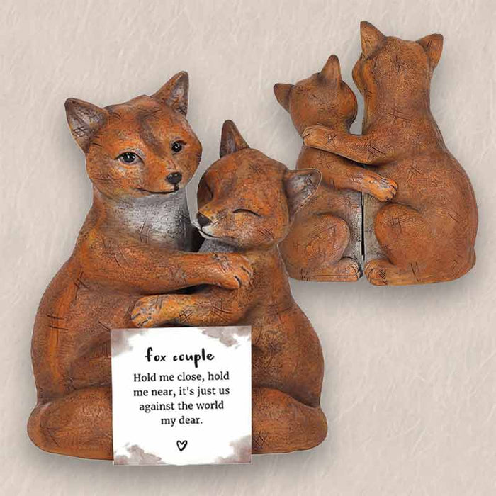 Fox Couple Ornaments - Wedding Anniversary - Valentines Gifts - The Fashion Gift Shop