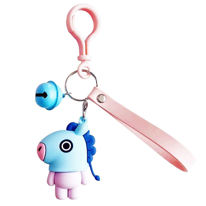 Fun Children Ladies Cartoon Pony Keyring With Bell & Strap - Gift Shop UK