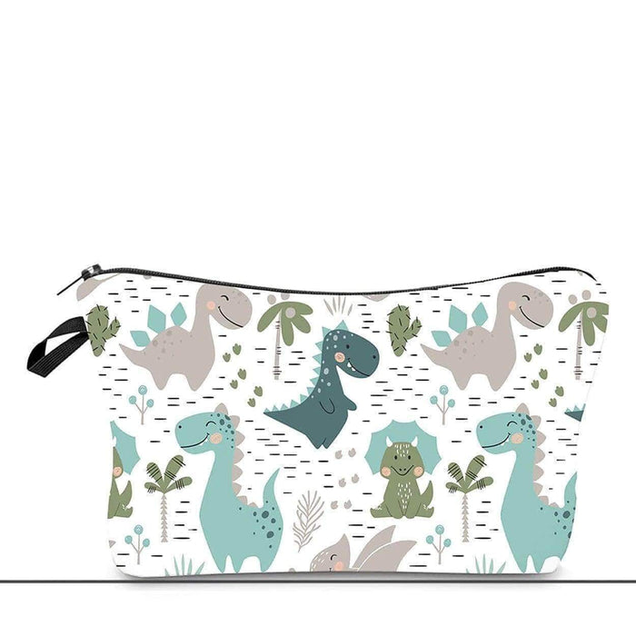 Fun Dinosaur Quality Cosmetic Bag Large Padded Pencil Case Back To School Zipped - The Fashion Gift Shop Ltd