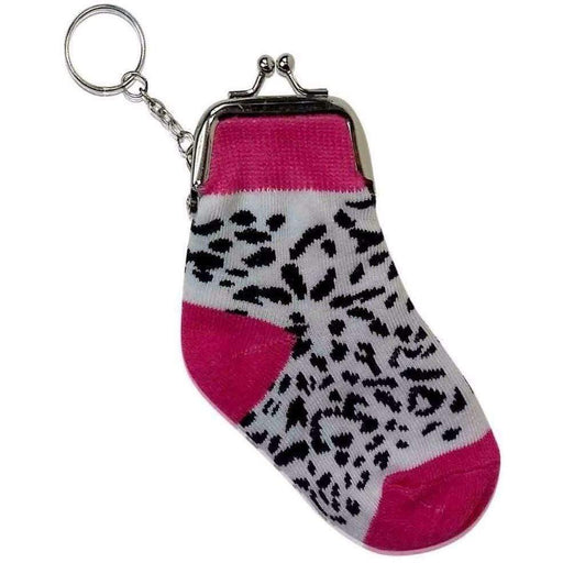 Fun Novelty Sock Purse with Key ring Party Favours Gift Coin Purses Wallet - The Fashion Gift Shop Ltd