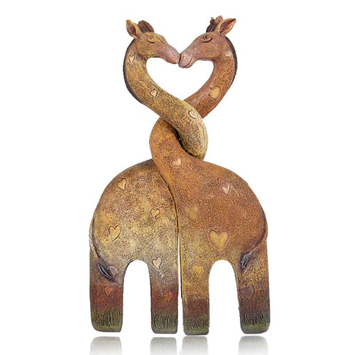 Cute Giraffes Cuddling - Pair of Ornaments - Gift Shop UK