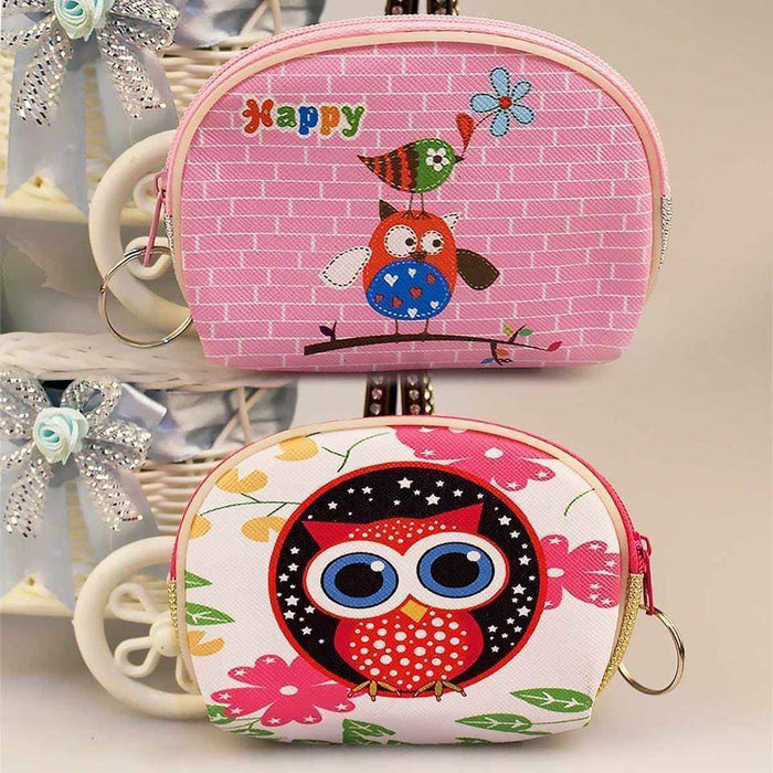 Girls Ladies Cute Owl Coin Purse Key Ring Faux Leather Money Wallet Xmas Gift - The Fashion Gift Shop Ltd