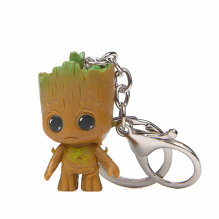 Groot Tree Marvel Guardians Of The Galaxy Keyrings Figures - Gift Shop UK