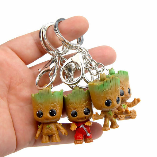Groot Tree Marvel Guardians Of The Galaxy Keyrings Figures - The Fashion Gift Shop Ltd