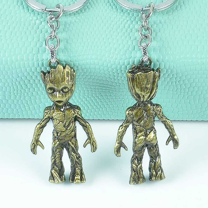 Groot Tree Metal Keyrings Marvel Guardians Of The Galaxy Figures - The Fashion Gift Shop Ltd