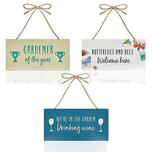Hanging Garden Novelty Message Signs - Gift Shop UK