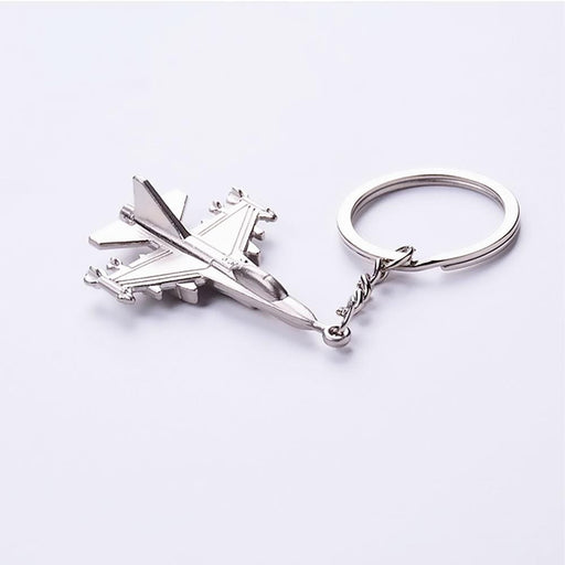 Harrier Jump Jet Aircraft Silver Metal Keyrings - Gift Shop UK