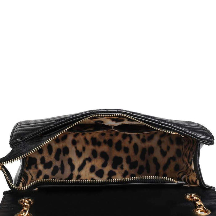 High Quality Ladies Handbag Shoulder Bag Metal Tassel Lined Inner Leopard Print - The Fashion Gift Shop Ltd