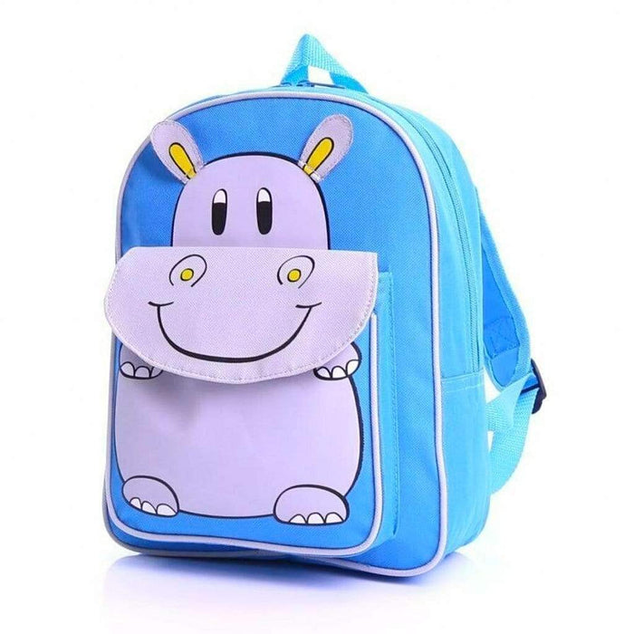 Hippo Childrens Back to School Backpack Pink Blue Kids Bags - The Fashion Gift Shop Ltd