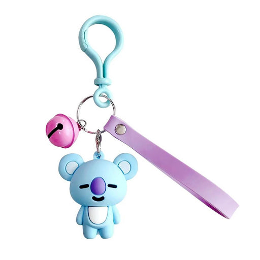 Girls Boys Koala Bear Keyring With Carry Handle And Bell - Gift Shop UK