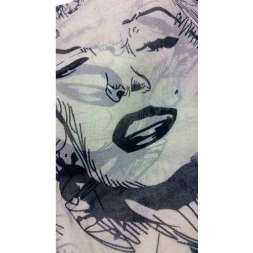 Ladies Baby Pink or Beige Marilyn Monroe Print Scarf - The Fashion Gift Shop Ltd