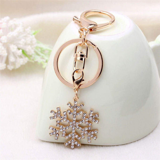 Ladies Girls Christmas Snowflake Handbag Keyring Xmas Bag Charm Stocking Fillers - The Fashion Gift Shop Ltd