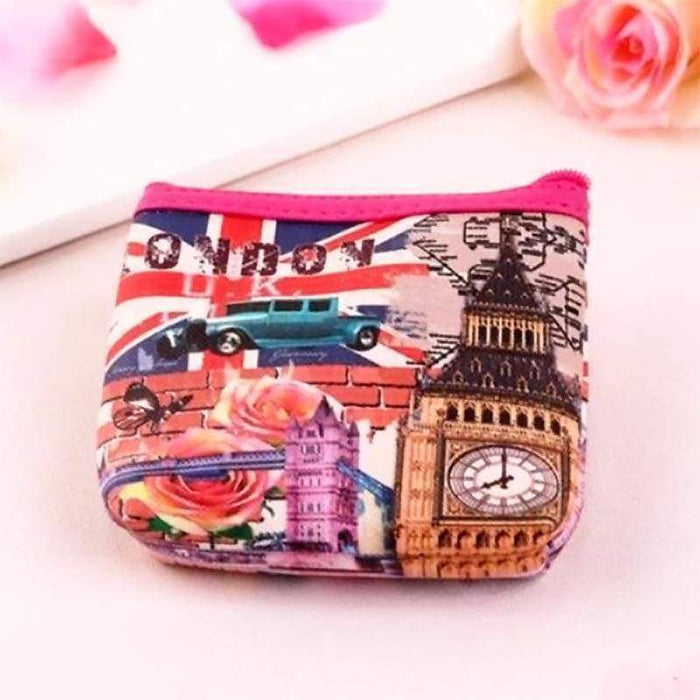 Ladies Girls London Theme Coin Purse Money Pouch Wallet - Gift Shop UK