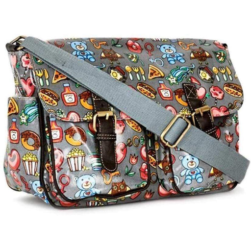 Ladies Girls Novelty School Bag Satchel Fun Lollipops Love hearts Retro Handbag - Gift Shop UK