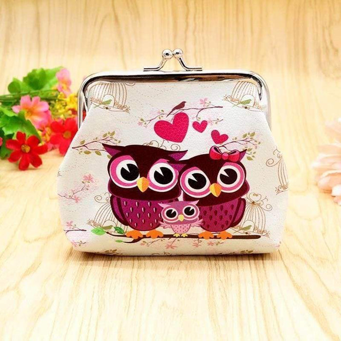 Ladies Girls Owl Love Heart Coin Purse Mini Wallet Clutch Stocking Filler Gift - Gift Shop UK