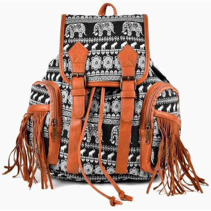 Ladies Quality Elephant Backpack Fully Lined Girls School Work Travel Rucksack - Gift Shop UK