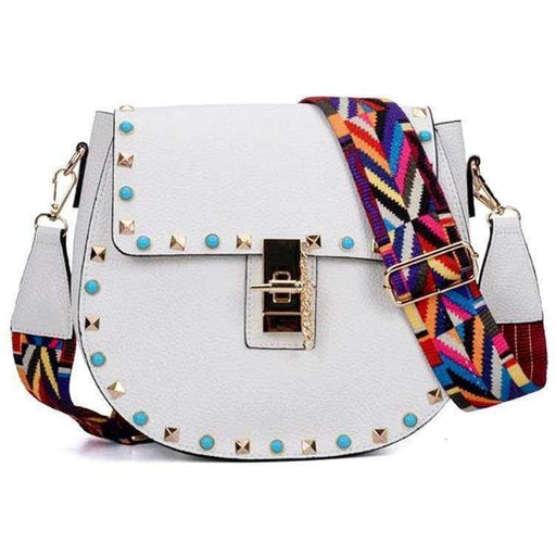 Ladies Quality Fashion Handbag Womens Girls Punk Stylish Shoulder Bag RRP £49.99 - The Fashion Gift Shop Ltd