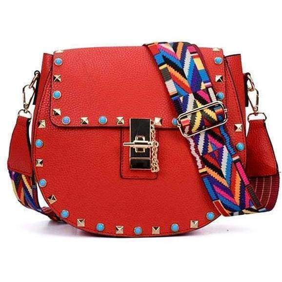 Ladies Quality Fashion Handbag Womens Girls Punk Stylish Shoulder Bag RRP £49.99 - Gift Shop UK