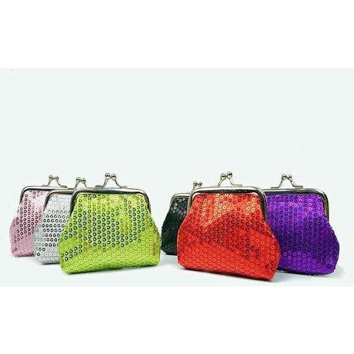 Ladies Sparkly Sequin Party Coin Purse Girls Quality Shiny Xmas Stocking Fillers - The Fashion Gift Shop Ltd