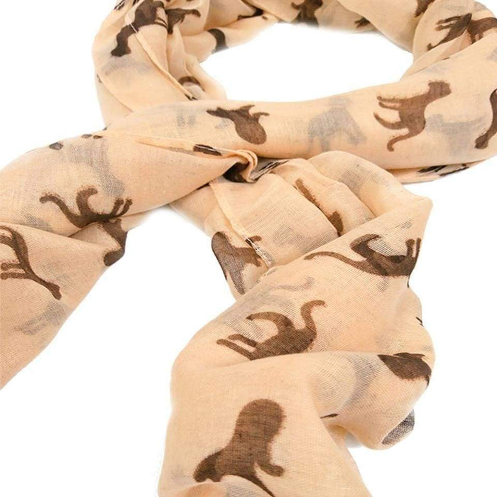 Ladies Womens Cat Print Scarf Large 6 Foot Warm Lightweight Shawl Wrap 5 Colours - Gift Shop UK