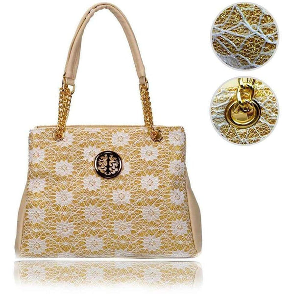 Ladies Womens Gorgeous Quality Elegant Sparkly Front Textured Ladies Handbags - The Fashion Gift Shop Ltd