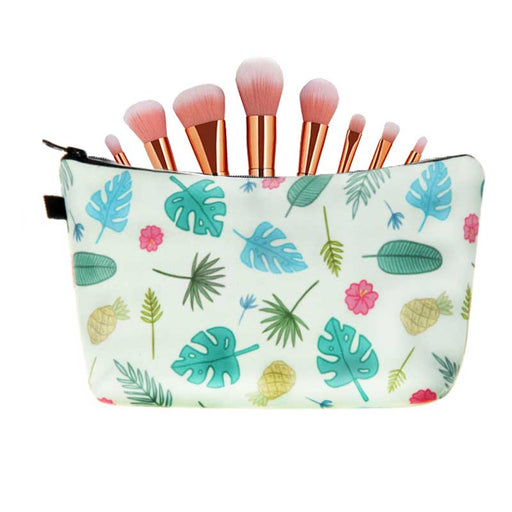 Leaf Pineapple Print Large Padded Pencil Case Girls Cosmetic Bags - The Fashion Gift Shop Ltd