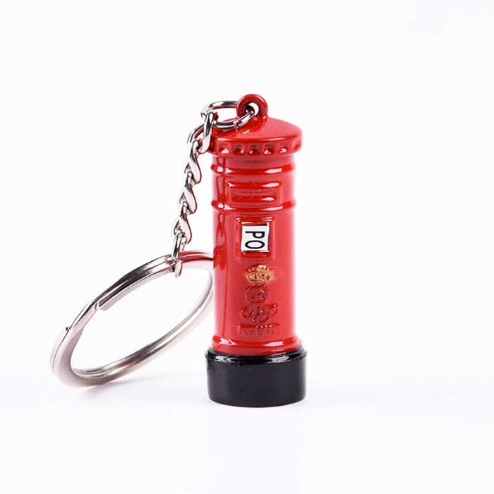 London Red Post Box Retro Collectable Metal Keyring - The Fashion Gift Shop
