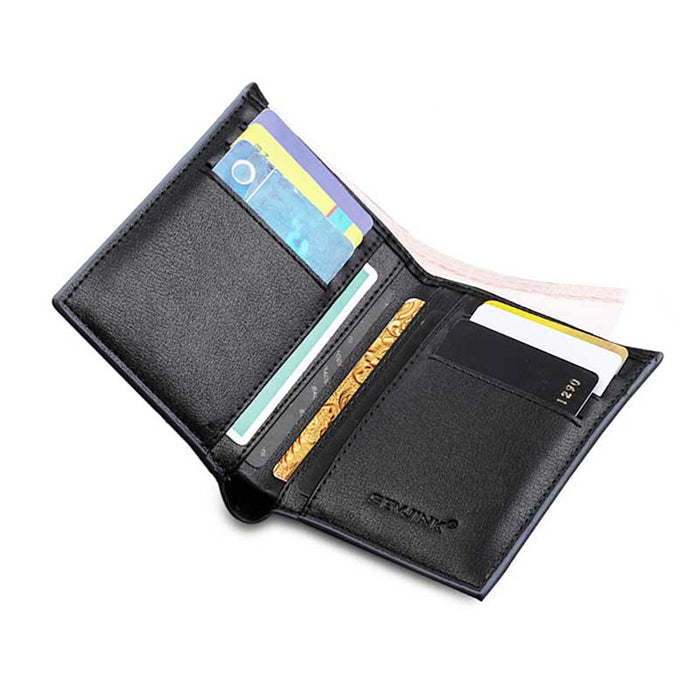 Men's Wallet Card Holder in Black - Grey - Taupe 5 card slots - PU Leather - The Fashion Gift Shop