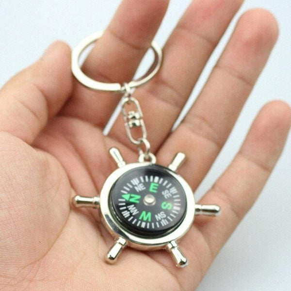 New For Him Silver Metal Camping Compass Keyring Quality Gifts - The Fashion Gift Shop Ltd