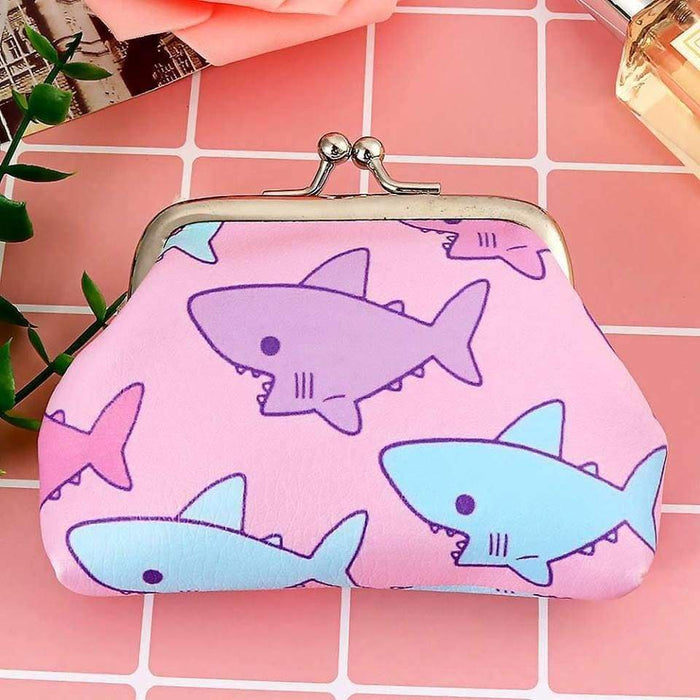 New Girls Funky Coin Purse Sharks Strawberries Money Wallet - The Fashion Gift Shop Ltd